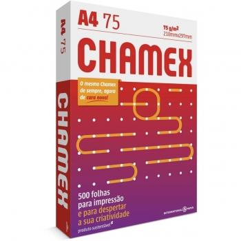 PAPEL SULFITE A4 BRANCO 500F 75G CHAMEX