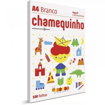 PAPEL SULFITE A4 100F 75G BRANCO CHAMEQUINHO