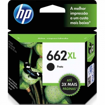 CARTUCHO HP 662XL ORIG PRETO CZ105AB