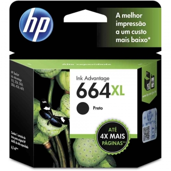 CARTUCHO HP 664XL ORIG PRETO