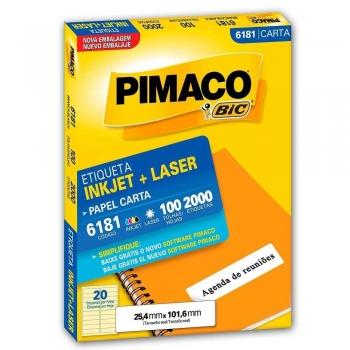 ETIQUETA 6181 CARTA INKJET/LASER 100 FLS.(20) PIMA