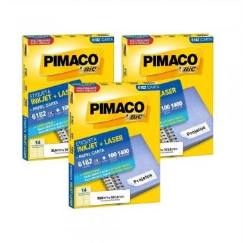 ETIQUETA 6182 CARTA INKJET/LASER 100 FLS.(14) PIMA