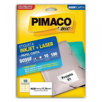 ETIQUETA 8099F CARTA INKJET/LASER 10 FLS.(10)