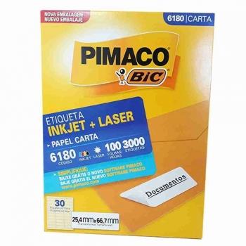 ETIQUETA 6180 CARTA INKJET/LASER 100 FLS.(30) PIMA