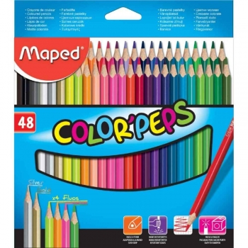 LAPIS 48 CORES  COLOR PEPS TRIANGULAR        MAPED