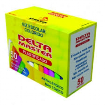 GIZ LOUSA COLOR  50 PALITOS PLASTIFICADO DELTA